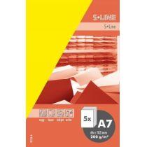 S-line A6 Karte, passendes Kuvert und Briefbogen je 5 Stück - narzisse