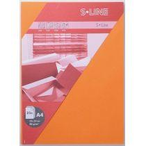 S-line A6 Karte, passendes Kuvert und Briefbogen je 5 Stück - orange
