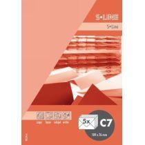S-line A6 Karte, passendes Kuvert und Briefbogen je 5 Stück - pfirsich