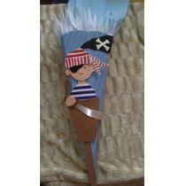 Schultüte Pirat Seeräuber in Handarbeit hergestellt