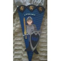 Schultüte Ritter 2 in Handarbeit für Sie hergestellt