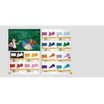 Schultuetenzuschnitt Wellpappe verschiedene Farben 20x68 cm