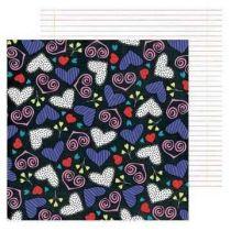 Scrapbook Dessin Papier MMH- i heart ya 30,5X30,5