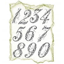 Silikon Stempel von Viva Decor 2012 , Jubiläumszahlen