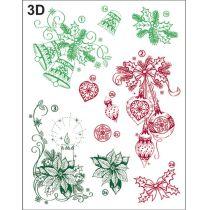 Silikon Stempel von Viva Decor 3D Weihnachts Motive Klassisch