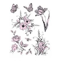 Silikon Stempel von Viva Decor Flowers and Butterflies