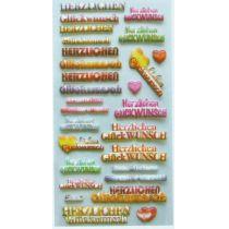 Softy-Sticker Herzlichen Glückwunsch