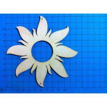 Sonne mit breiten Strahlen 22mm - 200mm
