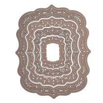 Spellbinders 4 Stanzformen  S4-464 Nestabilities Labels Thirty-Nine Decorative Elements