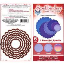 Spellbinders 6 Stanzformen Nestabilites Classic Scalloped Circles Small S4-125