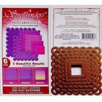 Spellbinders 6 Stanzformen Nestabilites Classic Scalloped Squares Large