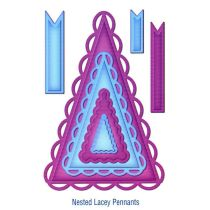 Spellbinders 7 Shapeabilities Nested Lacey Pennants S5-029