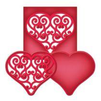 Spellbinders Die D-Lite S2-037 Swirled Heart