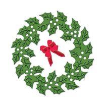 Spellbinders Die D-Lite S2-057 Holly Wreath