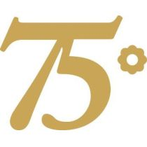 Sticker 75 gold