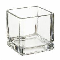 Teelichtglas eckig 5 x 5 cm