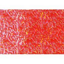 Verzierwachs, Hologramm-hellrot 175 x 80 x 0,5 mm
