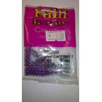 WACHSPERLEN 3mm,4mm oder 6mm violett matt