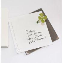 Glückszettel - schöner Notizblock mit Glücksmagnet