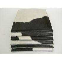 Sitzauflage COW - Sitzkissen aus Filz und Kuhfell in schwarz-weiß