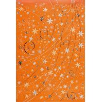 Blumenregen limone, pastellblau, orange A4 Papier