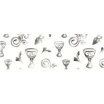 DESIGNKARTON CHARITY MOTIV: FISCH, KELCH, TAUBE gold oder silber