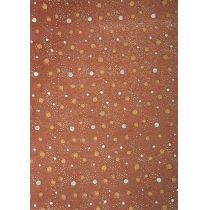 dots all over, brown A4 Kreativpapier Artoz