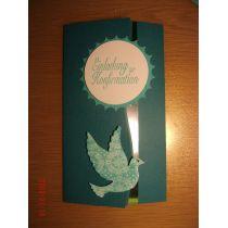 Einladungskarte für weiße Feste Taube