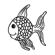 "Holzstempel \\""Fridolin\\"" der Fisch"