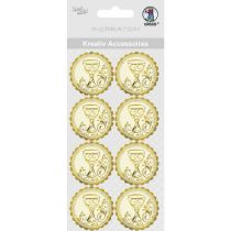 """Kreativ Accessoires """"Charity"""" silber  gold Kelch"""