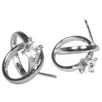 Metall Kerzen-Pin: Ringe mit Kristall