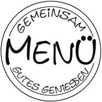 Stempel Menü , 6cm ø
