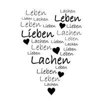 """Stempel """"Leben Lieben Lachen"""""""