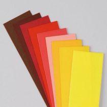 Wachsplatten, 200 x 50 x 0,5 mm, 10 Stk., Rot-Braun-Mischung