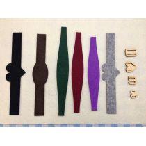 Armband aus Filz -Neuheit- schmal leicht geschwungen 217mm