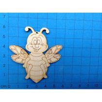 Biene, von vorne 40mm hoch - 100mm