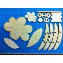 Blume 12cm/2Blätter/BLH5805/FSH3612/DAH0712/Rundstab