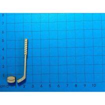 Eishockeyschläger mit Puck 50 mm