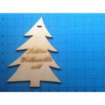 """Geschenkanhänger: Baum stilisiert 80mm """"Schöne Weihnachtszeit""""  graviert"""