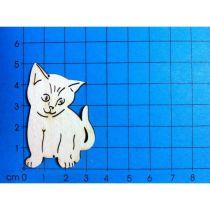 Holz Kleinteile gelasert Katze 50mm