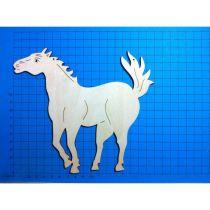 Holz Kleinteile gelasert Pferd wiehernd 60mm - 180mm