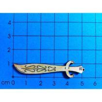 Holz Kleinteile gelasert Schwert 50mm