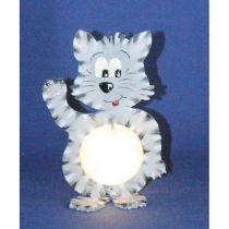 Katze 20 cm / 33 cm  inkl. 7cm  bzw. 12cm Acrylglas-Kugel mit Geldschlitz oder Loch