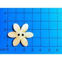 Knopf: Blume 30 mm