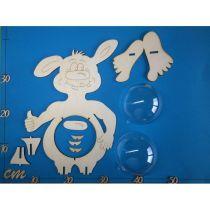 Monster  20 cm / 33 cm  inkl. 7cm  bzw. 12cm Acrylglas-Kugel mit Geldschlitz oder Loch