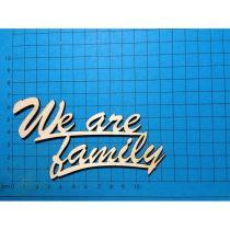 Schriftzug :We are family ca 120 mm