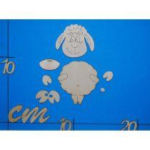 Standfigur Schaf in 3 Größen