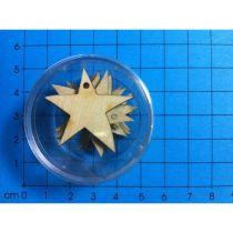 Stern mit 1 Loch 30mm in Dose 8 Stück