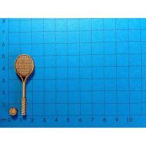 Tennisschläger mit Ball 50 mm