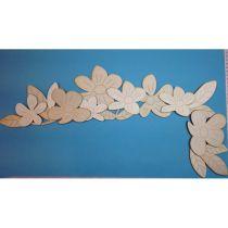 """Türkanten-Deko """"Blumen"""" ca. 58cm, rechts"""